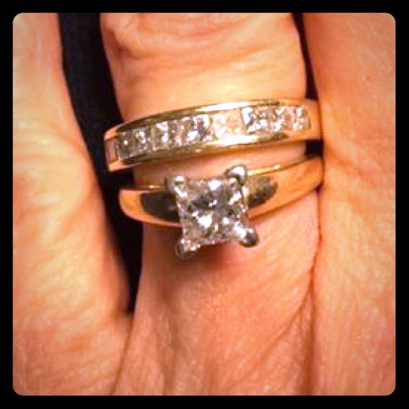 eb45bfe90 Kay Jewelers Jewelry | Wedding Set Size 6 1 Carat Solitaire 1 Ct Tw ...